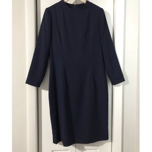 Vintage Navy Blue Fitted Dress
